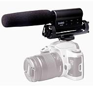 Debo YS-8 gravação do microfone microfone para nikon canon câmera filmadora DSLR
