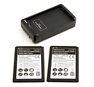 2x 3500mAh Batteries + Charger for Samsung Note 3 III N9000 N9005 N900A N900 N9002