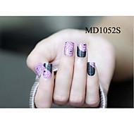 14PCS Fashion Glitter Powder Nail Art Stickers MD Series NO.1052S