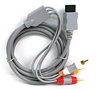 1.8m 5.904ft wii 30pin macho a 3 RCA macho Cable de conexión de vídeo de pantalla tv audio chapado en oro para wii