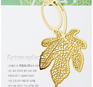 Gold-Plated Maple Leaf Bookmarks