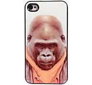 cas dur de conception en aluminium orang-outan pour iphone 5/5 ans