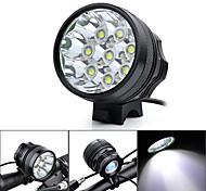 Marsing B80 4500lm 8xCree XM-L T6 LED 3-Modes Cool White Bike Light / Headlamp - Black (6 x 18650)