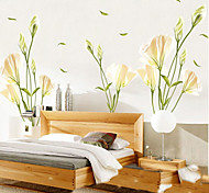 Environmental Lily Pattern PVC Stickers & Tapes