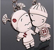Couple Romantic Wedding Key Ring Keychain for Lover Valentine's Day(One Pair)