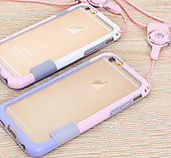 Lanyard Frame Mobile Phone Case for iphone 6 Plus(Assorted Colors)