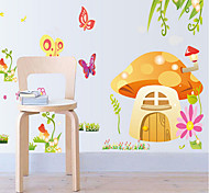 Environmental Removable Cartoon Mushroom PVC Wall Sticker