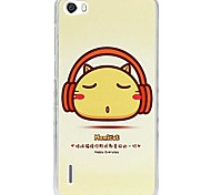 Fashion Painted Music Cat PC Back Cover for Huawei Honor 6