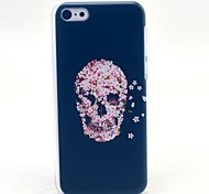 Flower Skull Pattern Hard Cover Case for iPhone 5C