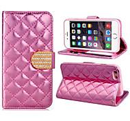 iPhone 6 Plus - Кейс со стендом - Один цвет (Розовый/Золотистый , Искусственная кожа)