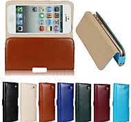 New Genuine Belt Clip Pouch Crazy Horse Leather Phone Case Cover for iPhone 5/5S(Assorted Colors)