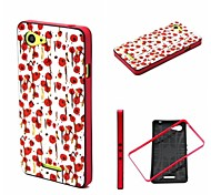 2-in-1 Hand Painted Rose Pattern TPU Back Cover with PC Bumper Shockproof Soft Case for Xperia E3