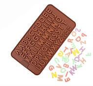 diy inglese alfabeto strumenti stampi in silicone di cottura 20 * 11,5 * 0,3 centimetri