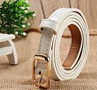 Women Work Casual PU Waist Belt