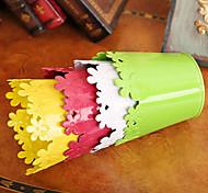 """4 """"h estilo rural vaso vaso de ferro cilíndrico multicolor opcional"""