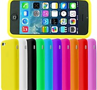 BIG D Silica Gel Pudding Back Case for iPhone 5/5S(Assorted Color)