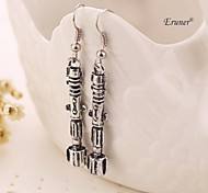 Eruner® Doctor Who Sonic Screwdriver Flashlight Antique Silver Plated Earrings