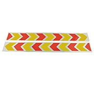 Car Auto Pattern Safety Reflective Stickers-(2Pcs)Yellow & Red