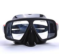 Buceo Máscaras - de PVC/Silicona - Negro