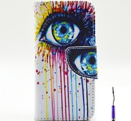 Magic Eye Pattern PU Leather Case Cover with A Touch Pen ,Stand and Card Holder for iPhone 5C