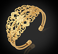 U7® Vintage Bracelets For Women 18K Chunky Gold Filled Gold Plated Cuff Bangle