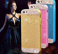 Sparkling Glitter Bling Shiny Soft TPU Skin Case Cover with Diamond for iPhone 4/4S(Assorted Colors)