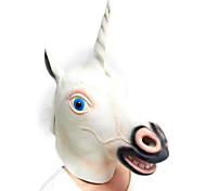 White Unicorn Rubber Mask for Halloween Costume Party