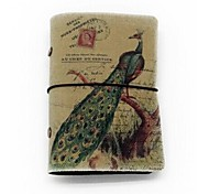 Canvas Cover Credit ID Card Bag 20 Card Slots- Peacock