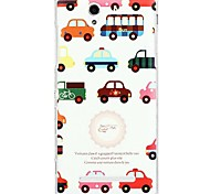 Fashion Cartoon Painted Color Car PC Back Cover for Sony Xperia C3