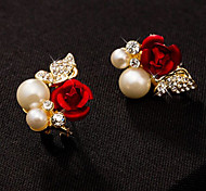 High Quality Women Stud Earrings Lady 10KT White Gold Filled Earring  Fashion Jewelry For Party