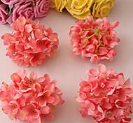 Eight Watermelon Red Hyfrangeas Decorative Wedding Flowers