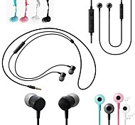 BIG D HS1303 Classic 3.5mm In-Ear Earphones with  Microphone&Volume Control for Samsung HTC and Others(Assorted Colors)