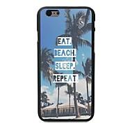 comer caso duro del sueño playa repetición de diseño para el iphone 6 más