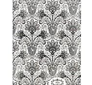 1PC New 3D Trendy Nail Art Stickers Nail Wraps Nail Decals Black Henna Flower Nail Polish Decorations