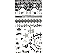 1PC 3D Black Nail Art Stickers Lace Nail Wraps Nail Decals Star Cross Heart Nail Polish Decorations