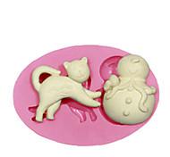 cat pupazzo stampo in silicone stampo in silicone stampo in silicone decorazione di una torta per i gioielli fondente caramelle