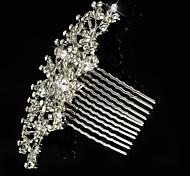 Vintage Wedding Party Bridal Bridesmaid Crystal Leaf Bridal Hair Comb