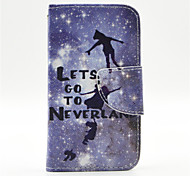 Peter Pan Pattern PU Leather Full Body Case with Card Slot and Stand for iPhone 4/4S
