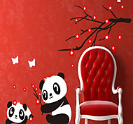Removable DIY Panda Pattern PVC Wall Sticker