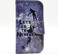 Peter Pan Pattern PU Leather Full Body Case with Card Slot and Stand for  Samsung S3 I9300