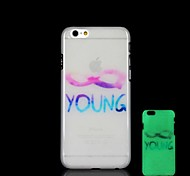Young Pattern Glow in the Dark Hard Case for iPhone 6