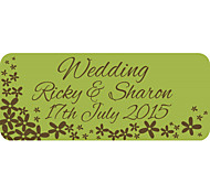 Personalized Wedding Product Labels Green Flower Pattern Of Film Paper