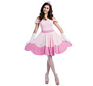 Costumes Princess series Costumes Halloween / Christmas / Carnival / New Year Pink Patchwork / Lace Polyester Dress / Headpiece / Gloves