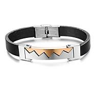 Z&X®  Men's Fashion Trend Titanium Steel Leather Bracelet