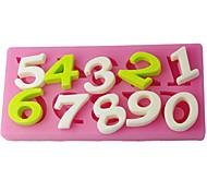 FOUR-C сахар ремесленные инструменты номер торт тиснение плесени, украшение торта, помадной отделочных работ поставляет розовый цвет