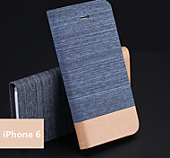 Jeans PU Holder Mobile Phone Case for iPhone 6(Assorted Colors)