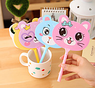 Cute Animal Fan Shape Ballpoint Pen(Random Color)