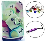 Cotton Candy Pattern PU Leather Case with Stylus and Dust Plug for Samsung Galaxy Trend Lite S7390/S7392