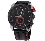 Men's Fashion  2 Eyes Design Big  Round Dial  Silicone Strap Quartz Movement Wrist Watches(Assorted Colors)