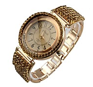 Women's Bracelet Watch Quartz Analog Sparkle Dress Full Diamonds Crystal Luxury Rose Gold Wristwatches